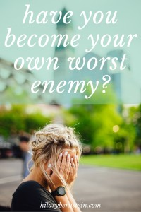 Have you ever thought about how you think about yourself? Far too often, it's easy to become your own worst enemy.