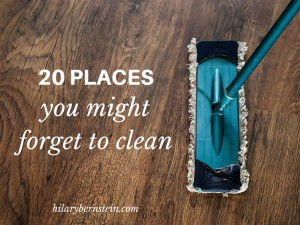 Every home has places you simply forget to clean. Here are 20 places you might forget to clean (and here's how I clean those areas).
