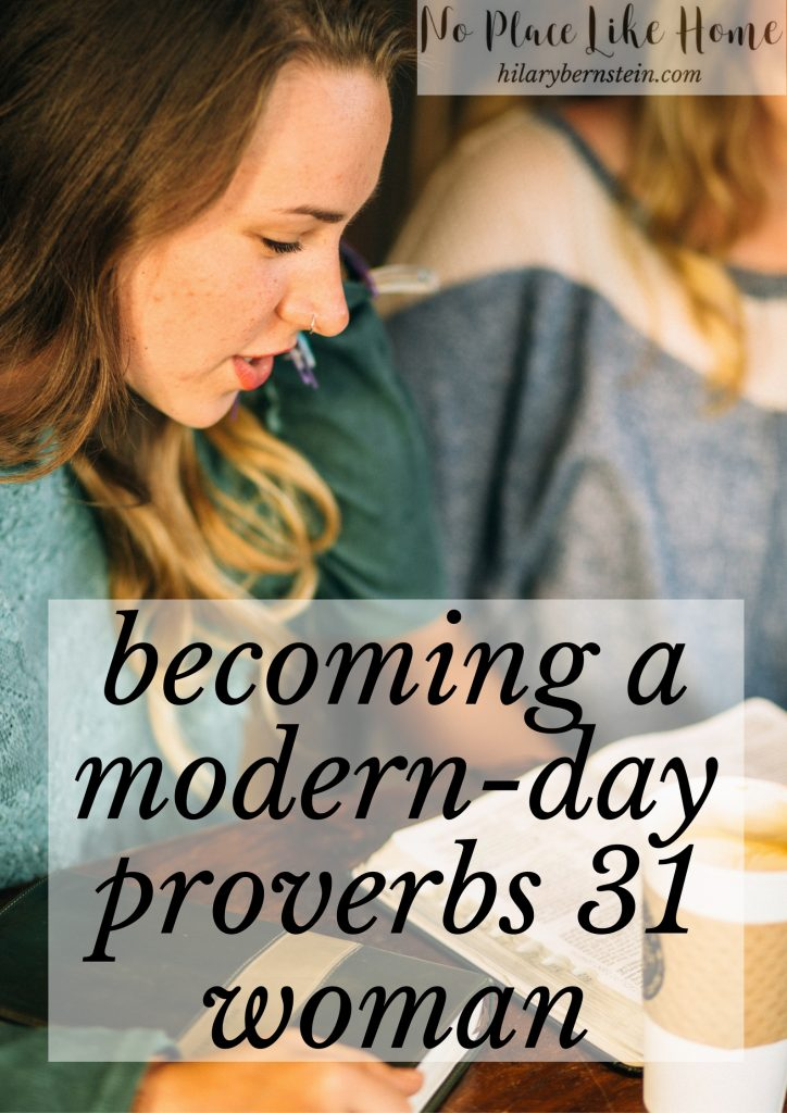 The example of the Proverbs 31 woman is timeless ... she still has lessons to teach a modern day Proverbs 31 woman.