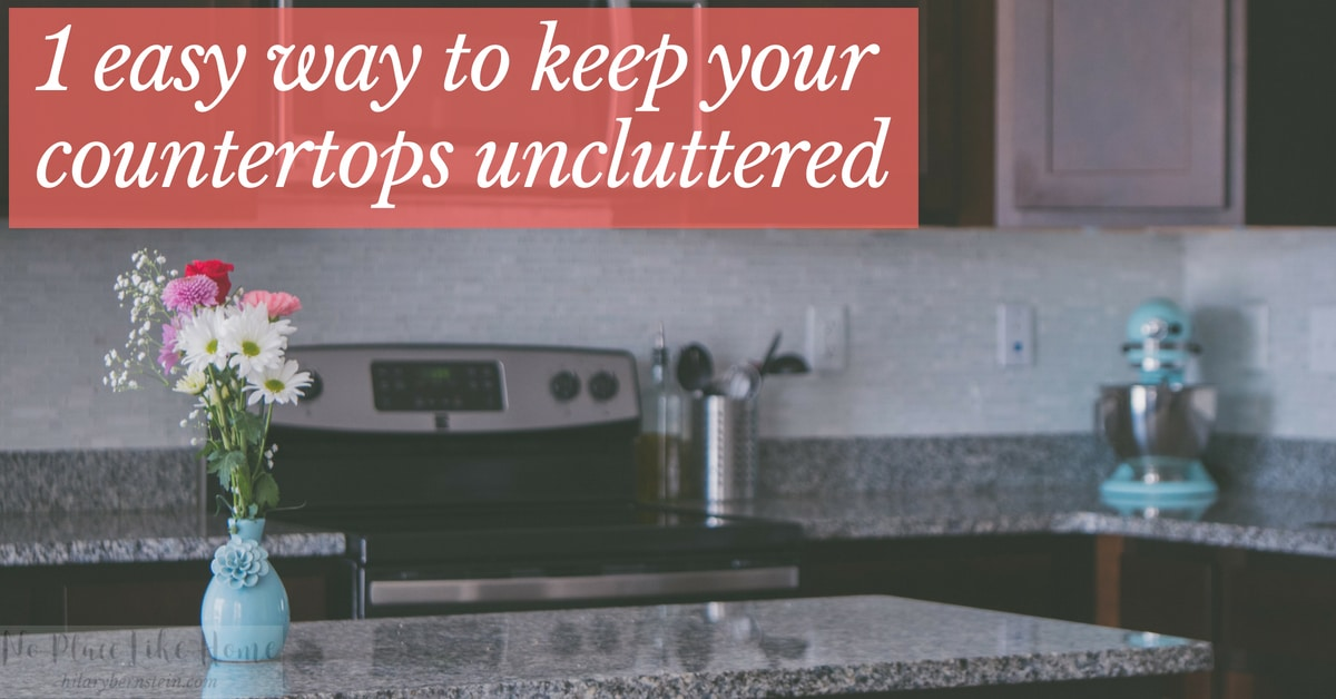 Keep countertops uncluttered with one easy trick!