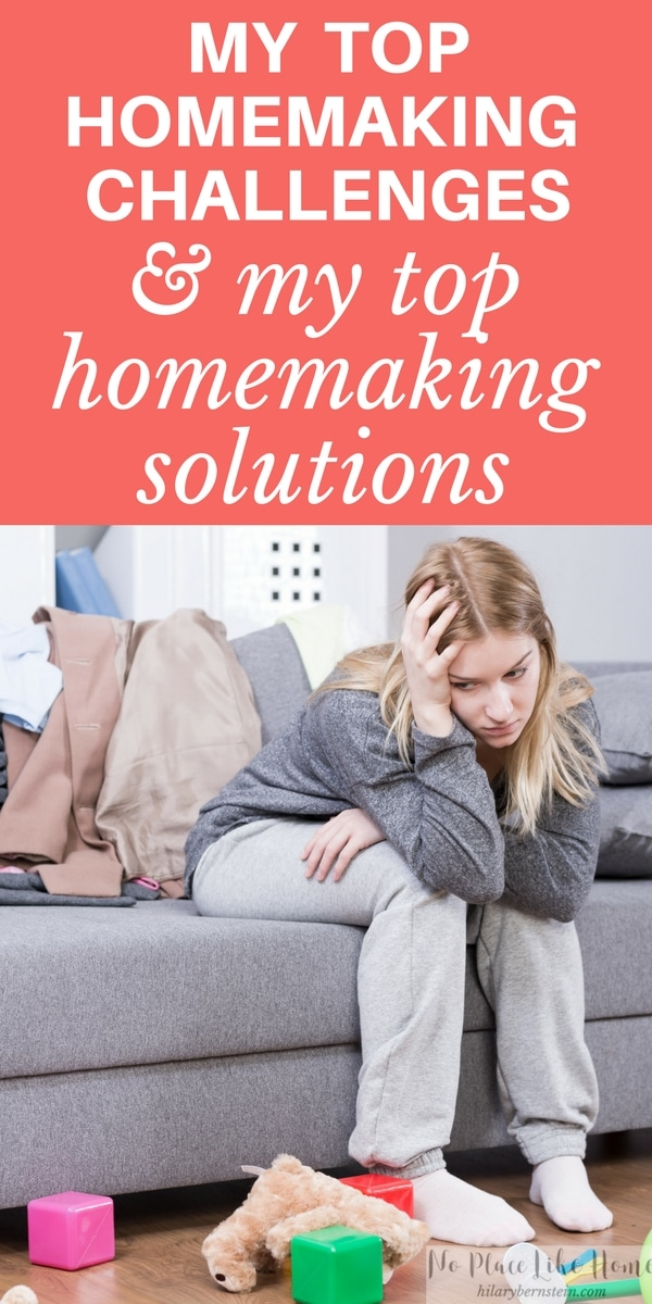 My ideal vision of my home is frequently hijacked by 5 common homemaking challenges. Good thing 5 homemaking solutions bring contentment and joy!