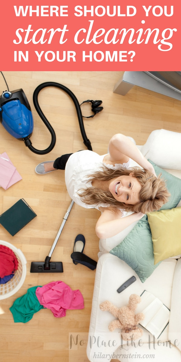Ever wonder where to start cleaning? This quick and simple strategy will help!