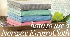 Cleaning your house is easy and quick with the Norwex EnviroCloth. Here's how to use it!