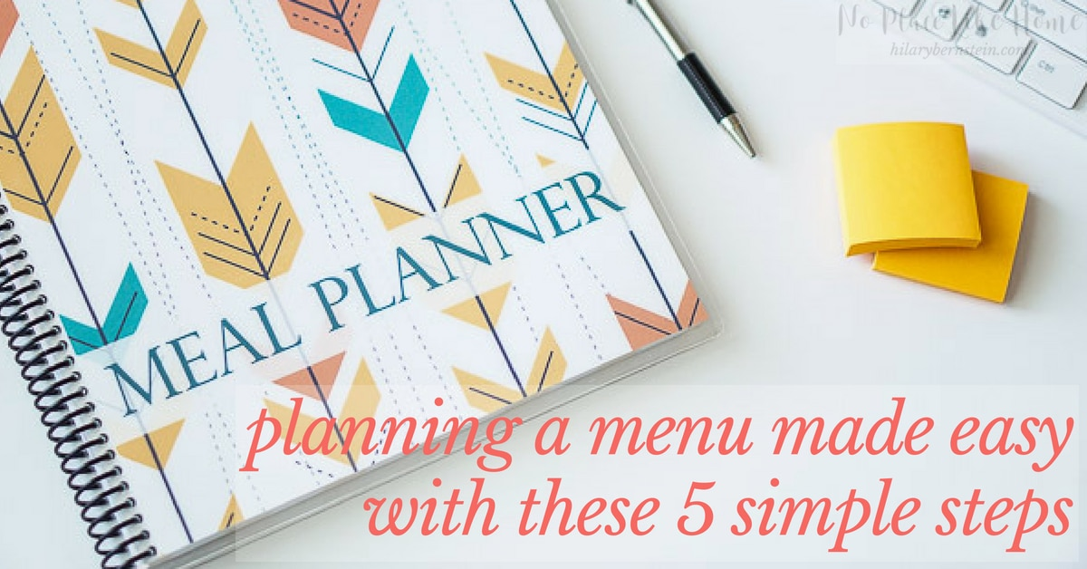 Having trouble with planning a menu? You'll absolutely love this simple 5-step meal and menu planning process!