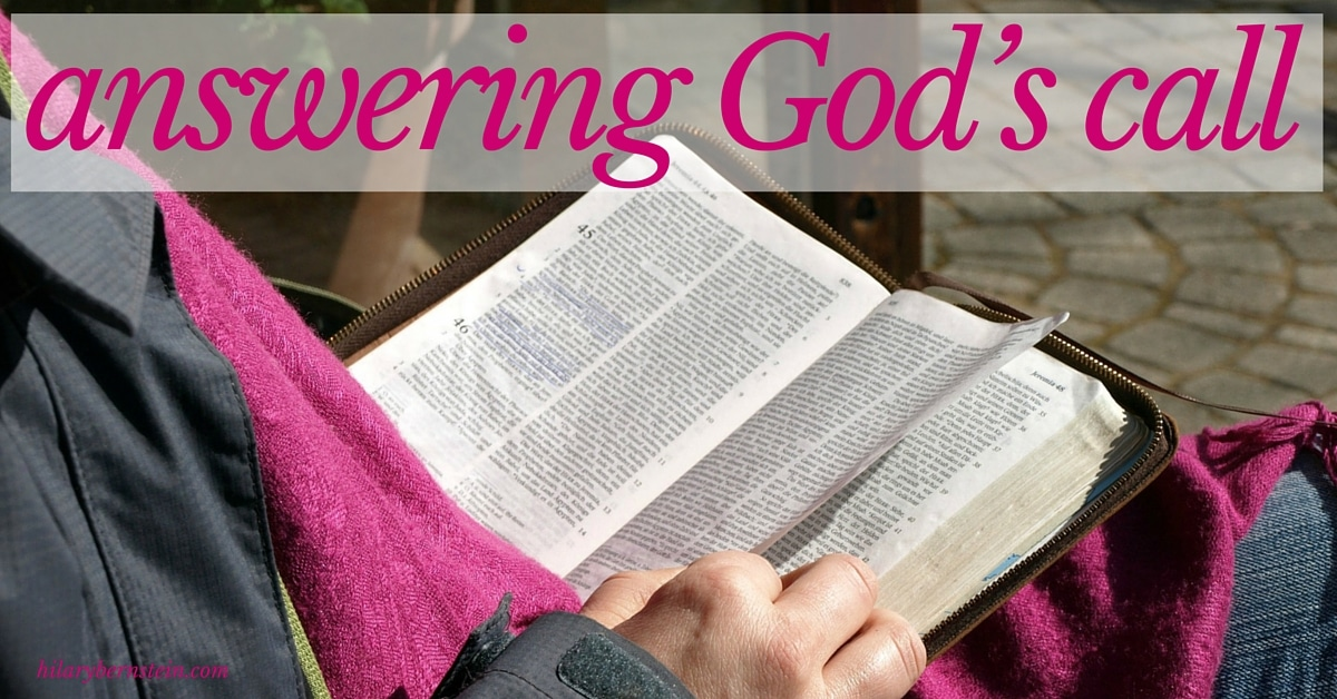 God is calling to each of us. How are you answering God's call?