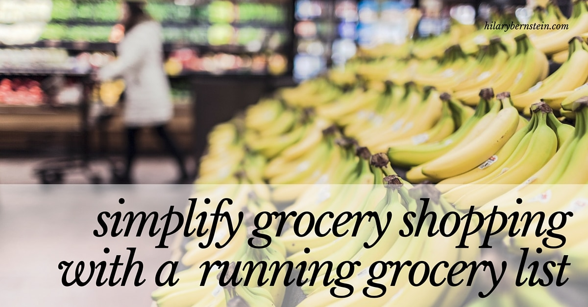Frustrated when you forget to pick something up when grocery shopping? Simplify grocery shopping with a running grocery list ...