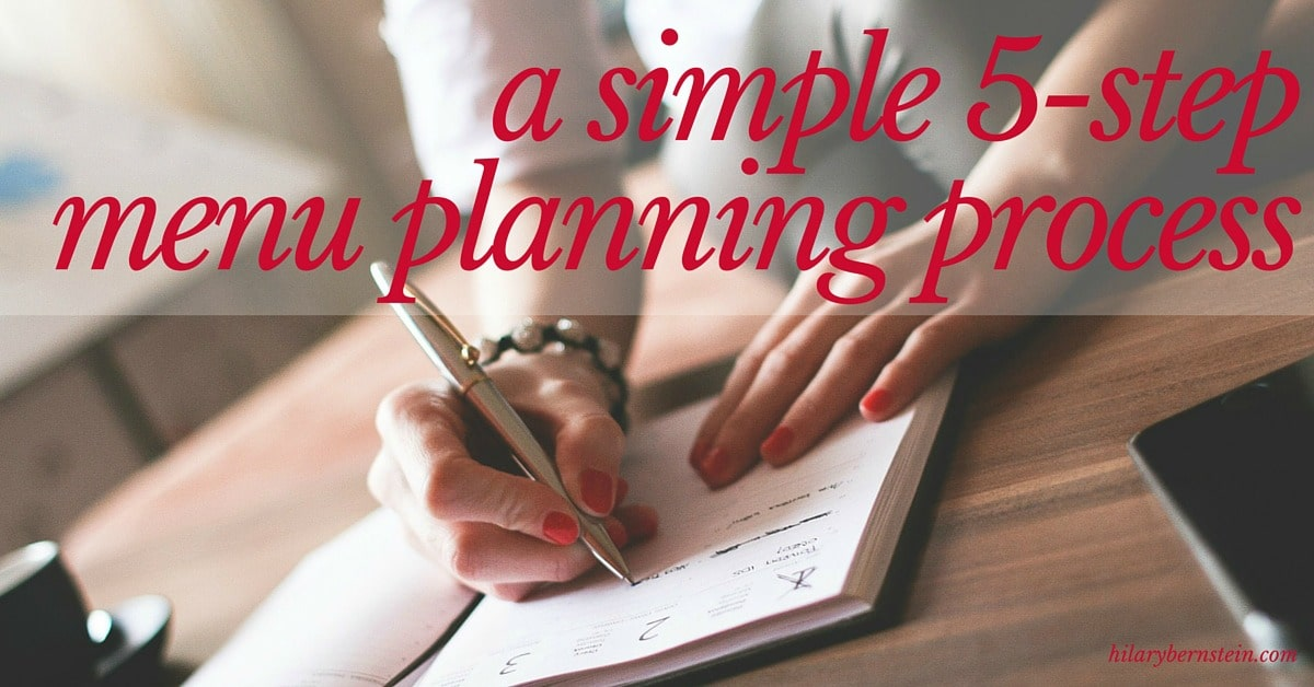 Having trouble with menu planning? You'll absolutely love this simple 5-step menu planning process!