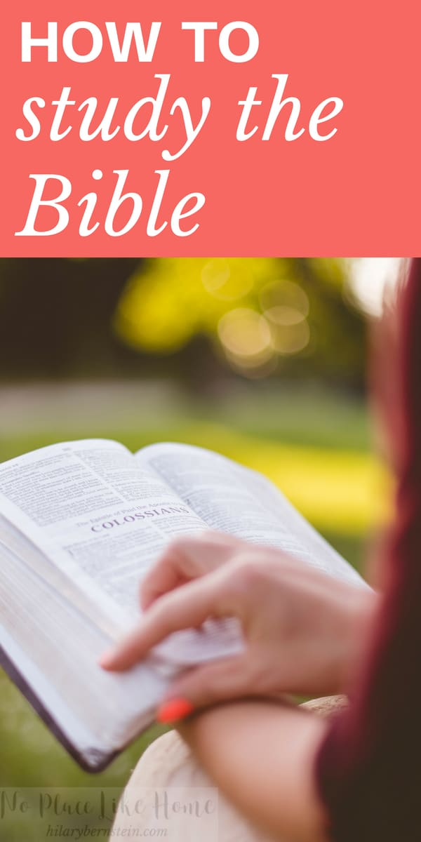 Reading the Bible is important ... andso is studying it. But do you know HOW to study the Bible?