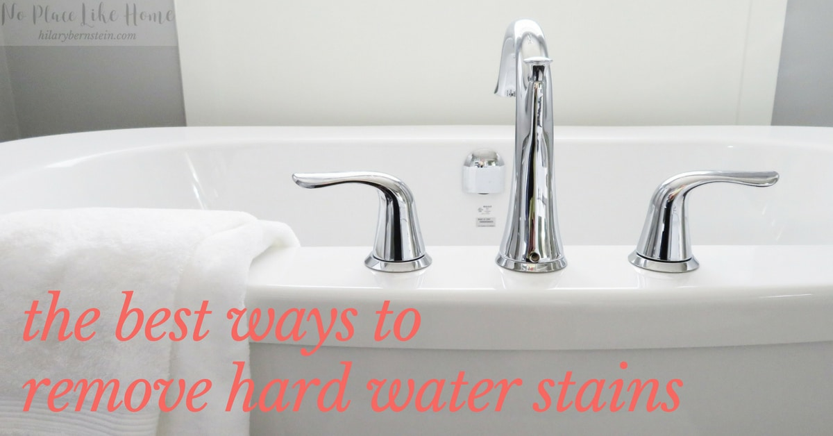 Wondering how to remove hard water stains in your home? I've tried seven different cleaning products to see what cleaned most effectively.