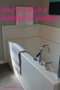 If you can get into a daily routine, it can be very quick and simple to clean a bathtub and shower.