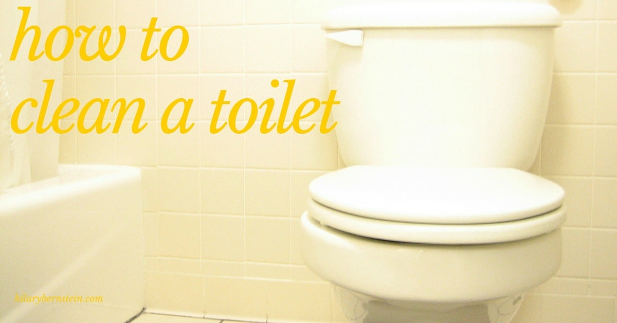 Wondering how to clean a toilet? Follow this simple cleaning process!