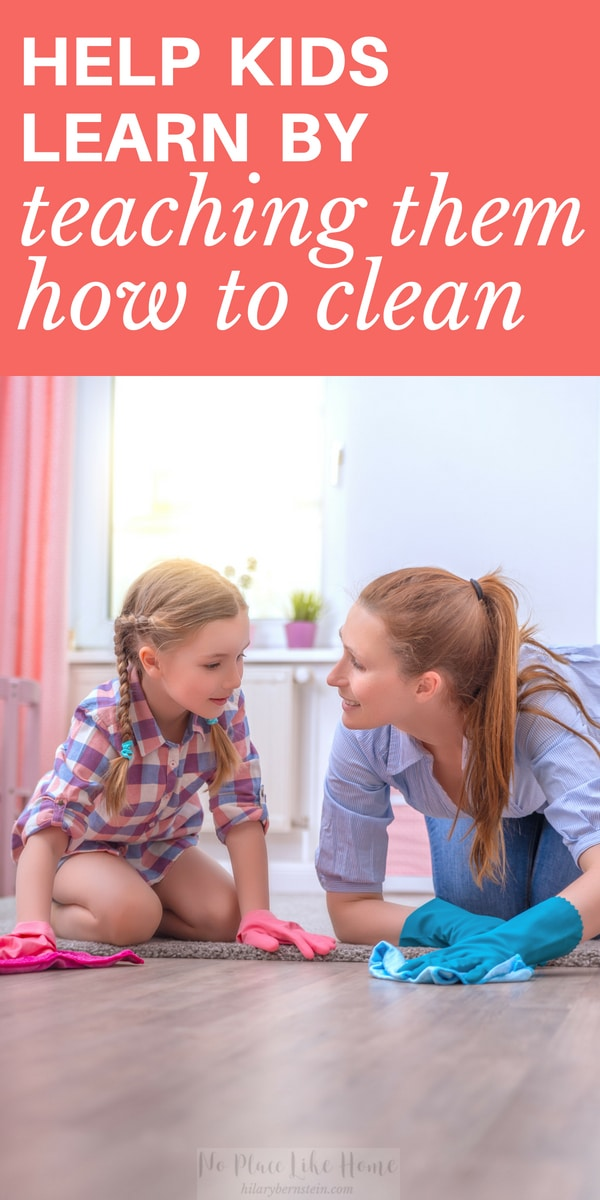 Did you ever think that you're actually helping your children learn by actually teaching them how to clean and do housework?