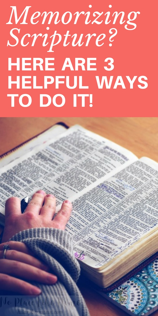 Memorizing Scripture is important, but it can be difficult to do. These 3 ways will help as you try to memorize Scripture!