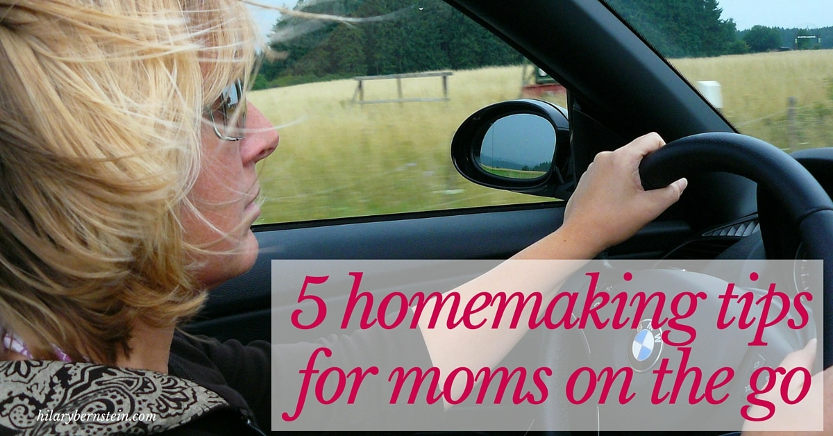 It never hurts for moms on the go to get more ideas when it comes to managing homemaking! Here are five homemaking tips for moms on the go…