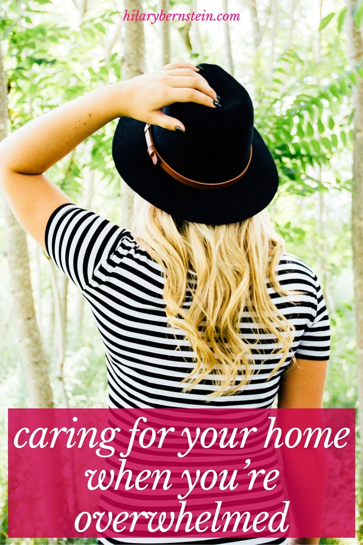 When you're overwhelmed with life, how in the world can you care for your home? I have a few suggestions that have worked for me ...