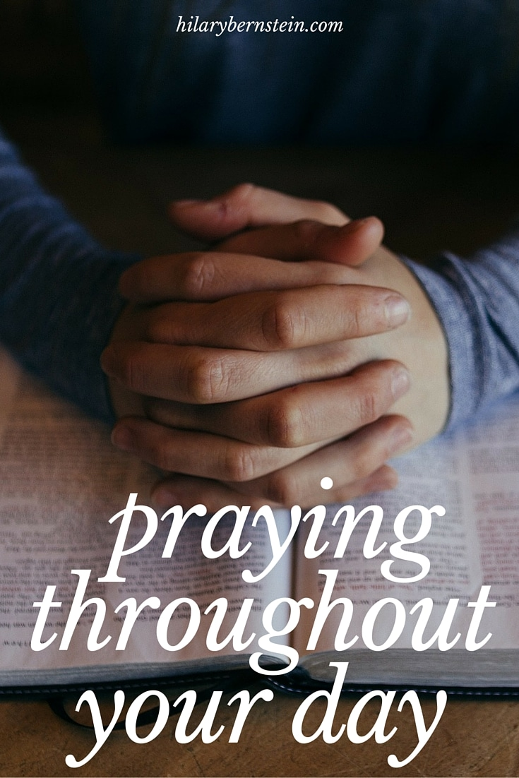 Praying is important – but sometimes difficult to remember. Yet you can cultivate your prayer life by praying throughout your day.