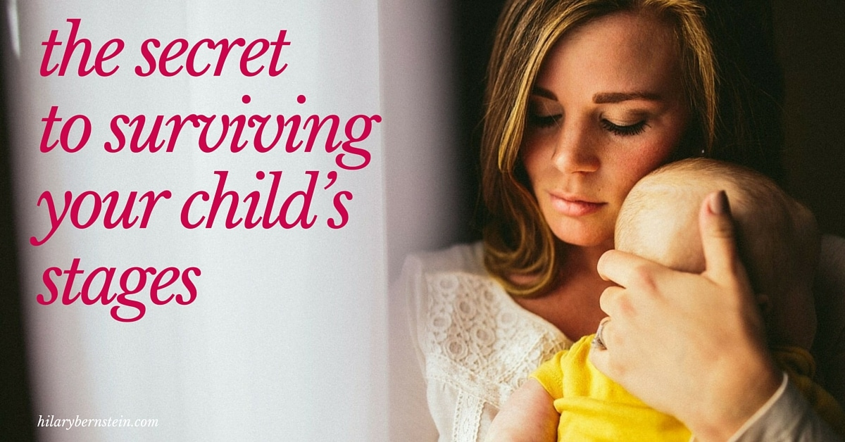 Children change every day … sometimes for better, sometimes for worse. Parents can learn the secret to surviving your child's stages.