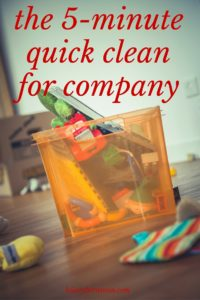 Sometimes, guests stop by without much notice at all. If your house is a wreck, here's how you can do a 5-minute quick clean for company.