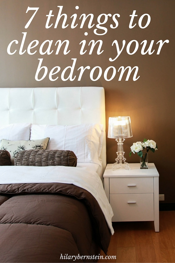 When you're cleaning your house, don't forget to clean your bedroom! For a little help, use this simple checklist of 7 things to clean in your bedroom.