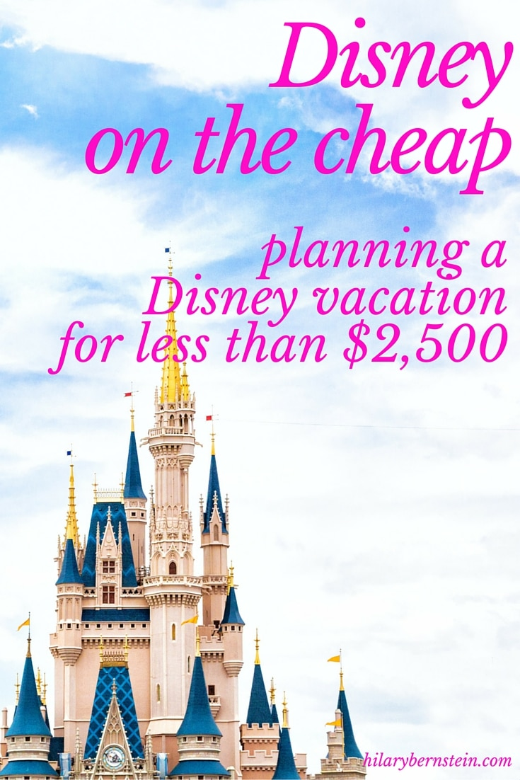 Planning a Disney Vacation for Less than $2,500