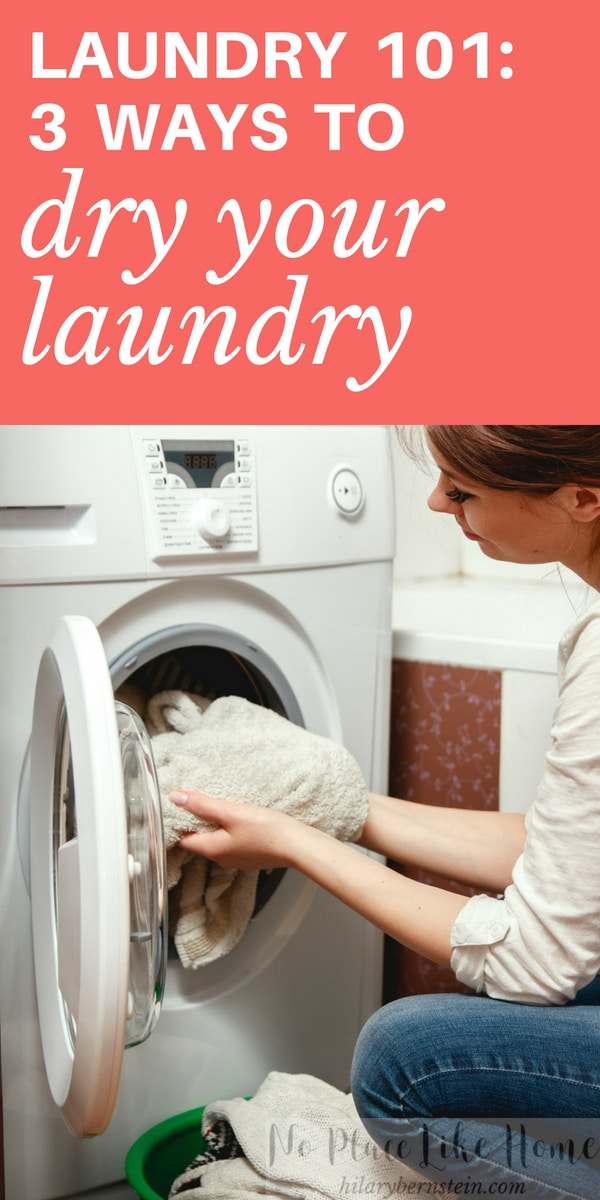 Washing clothes today? Here are 3 different ways to dry laundry!