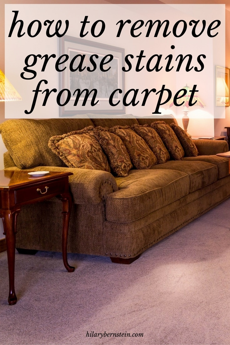 how to get grease off carpet