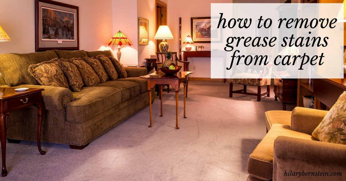 how to get black grease stains out of carpet