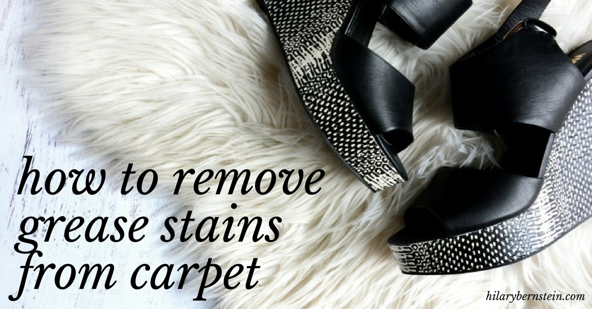 If you need to remove grease stains from carpet it won't be easy. But it's not an impossible housekeeping problem – especially when you have a secret weapon!