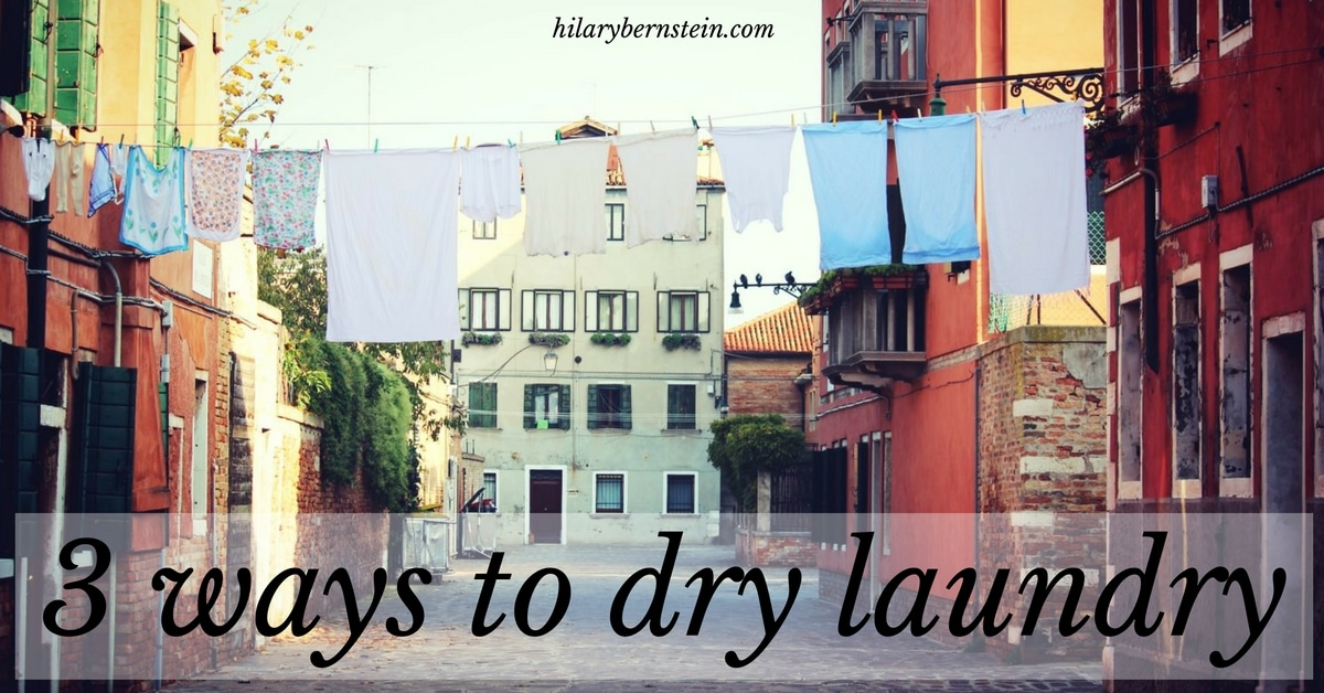 Washing clothes today? Here are 3 ways to dry laundry!