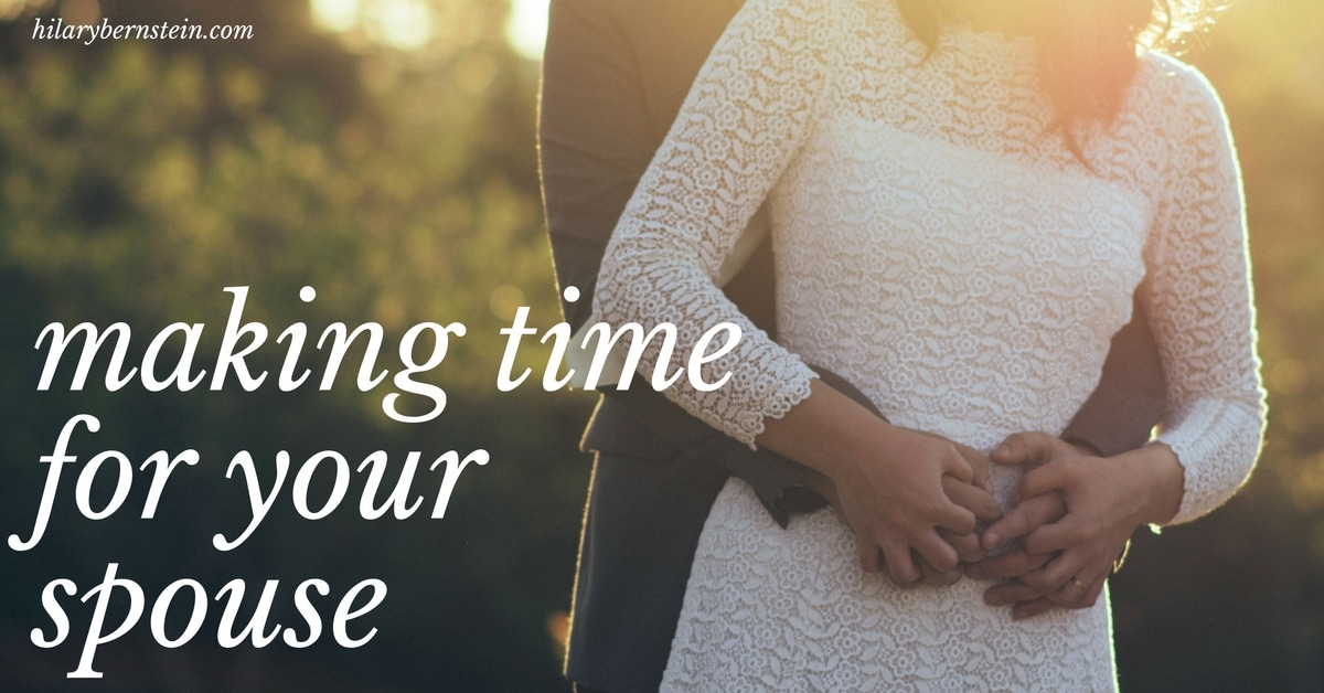 Everyone's busy. But if you're married, it's important you're making time for your spouse.