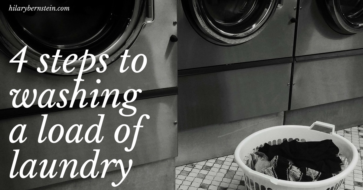 Got dirty clothes? Here's 4 steps to washing a load of laundry!