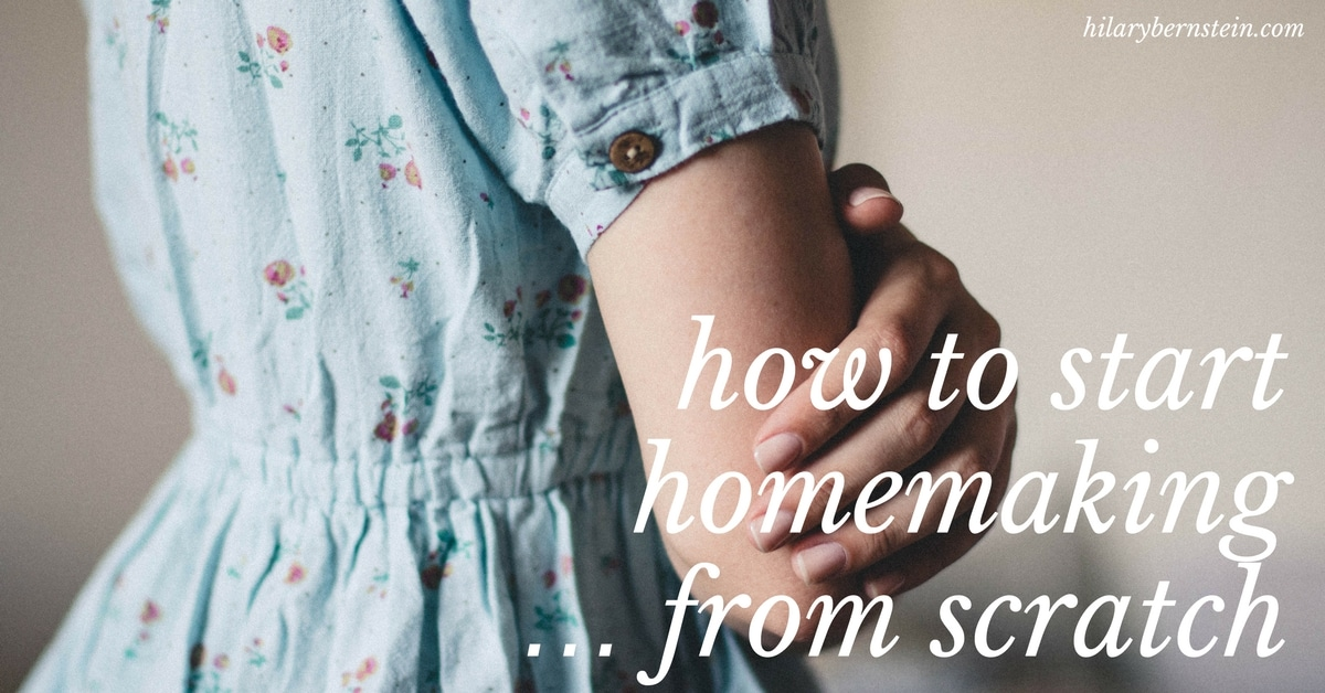 Starting homemaking from scratch can seem intimidating and overwhelming. These tips can help beginners start homemaking!