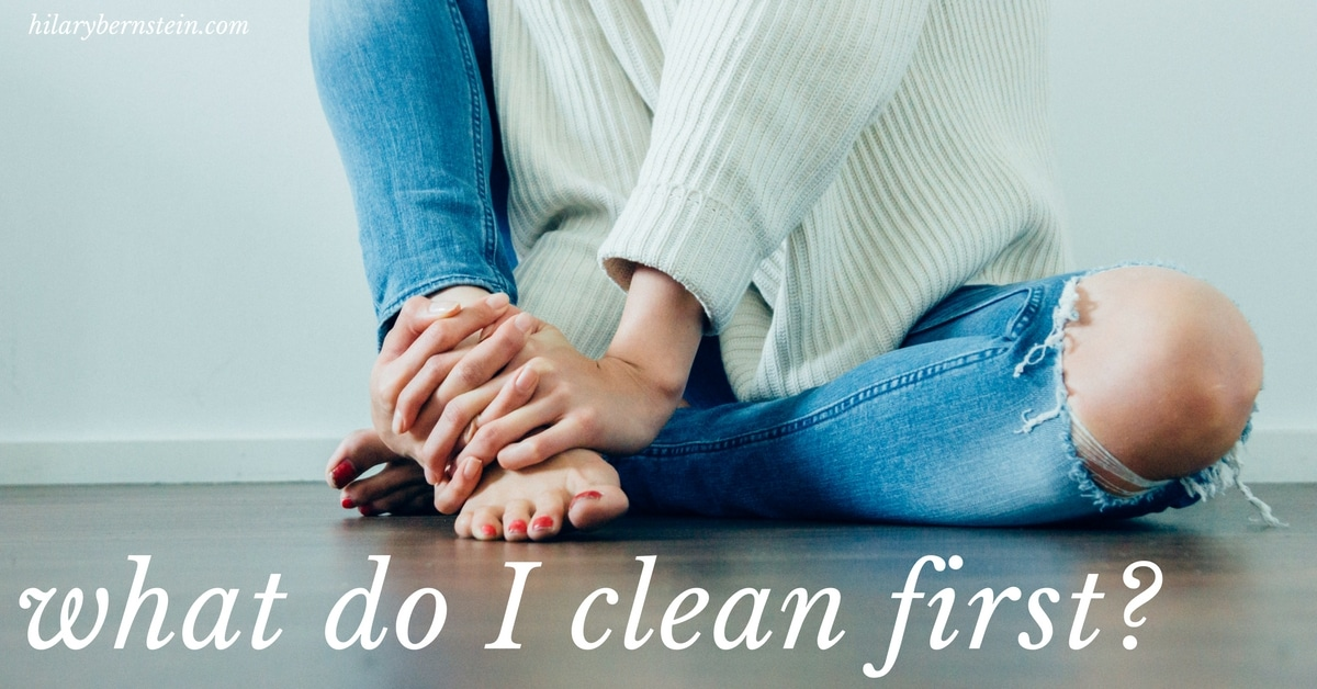Ever wonder what should you clean first? Here's my real-life example of what I clean first in my own home ...