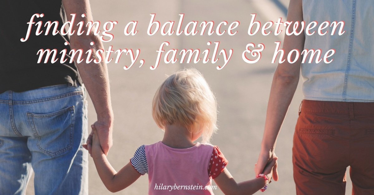 Need to find or create a balance between family, home and ministry? Here are 3 questions to ask yourself!