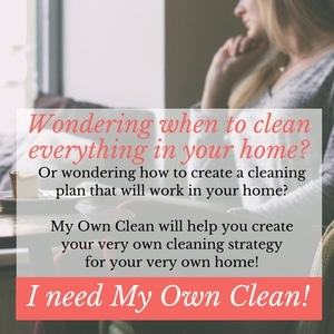 Take control of your housekeeping ... with your very own cleaning strategy created for your very own home.