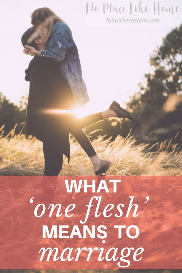 One of the many benefits to marriage is living life together as one flesh.