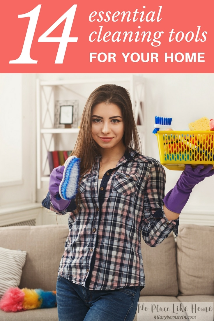 Choosing essential cleaning tools will help make your cleaning your home easier. These 14 are a great place to start!