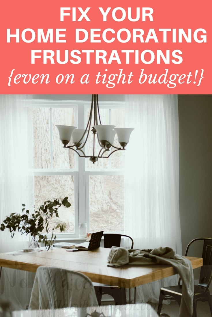 Trying to feather your nest on a tight budget? When you're living on a dime, home decorating frustrations are pretty common. But relax ... and try these 6 tricks!