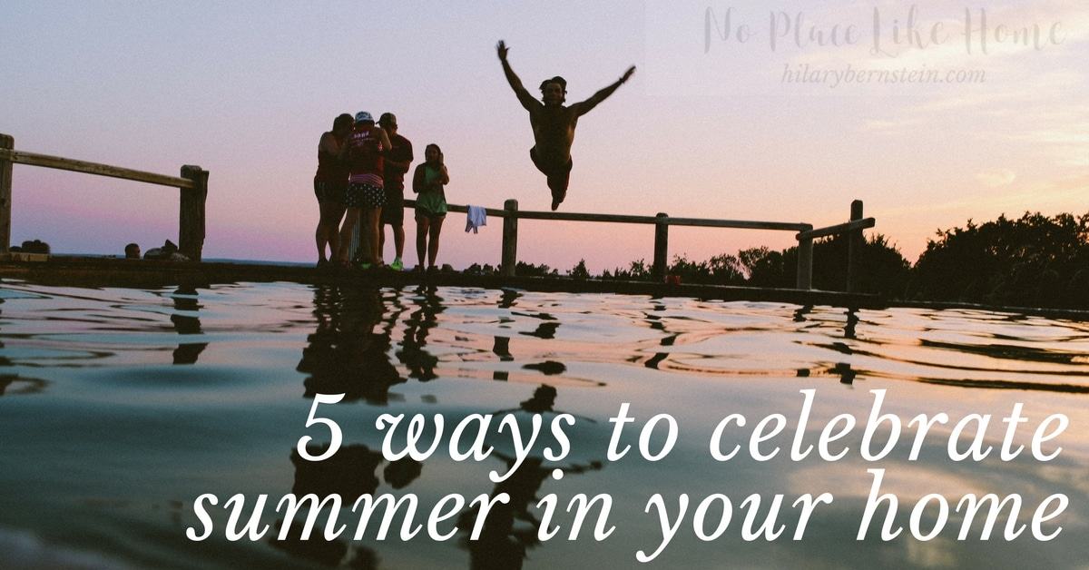 Summer comes just once a year ... make the most of it in your home with these five summery tips!