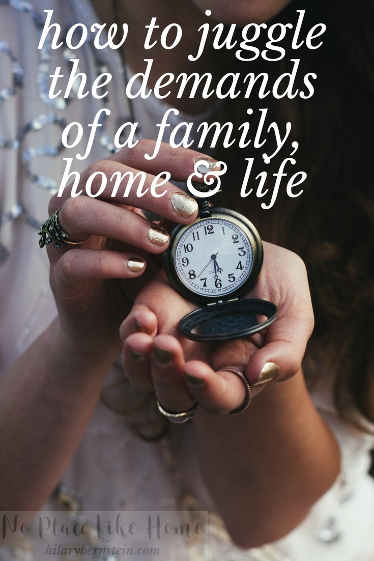 How is it possible to juggle the demands of a family, home and life? Here are six ways to help you balance everything.