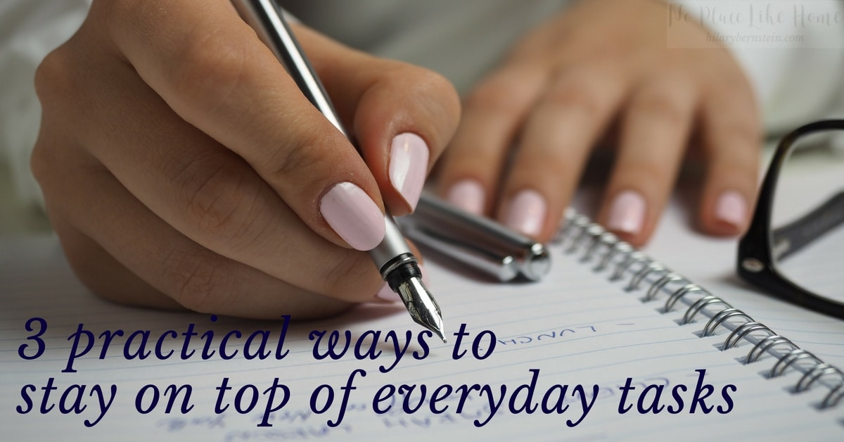As you begin to focus on what you actually can get done every day – instead of focusing on what you'd like to accomplish but never really have the time or energy for– you'll be able to feel like you're successfully caring for your home. You'll feel this way because you actually will know how to stay on top of everyday tasks.