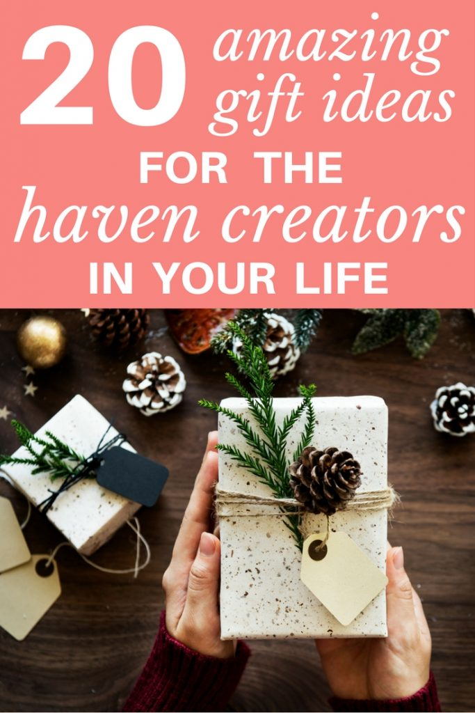 Wondering what to buy other home loving friends? You'll love these 20 amazing gift ideas for haven creators!