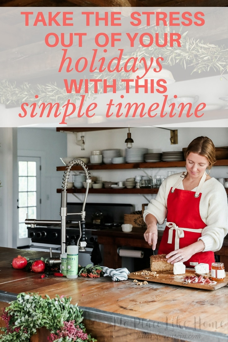 If you know you need to take the stress out of your holidays, you'll love this simple timeline! Just follow it ... and enjoy an easier holiday season!
