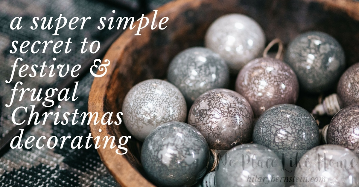 With this festive and frugal decorating secret with you, you can add a tasteful touch of cheer to your home this Christmas.