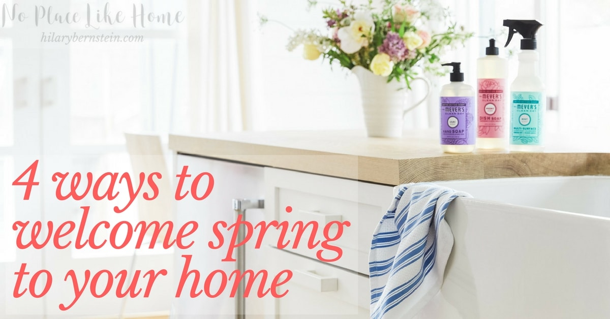 These four simple ideas are great ways to welcome spring to your home!