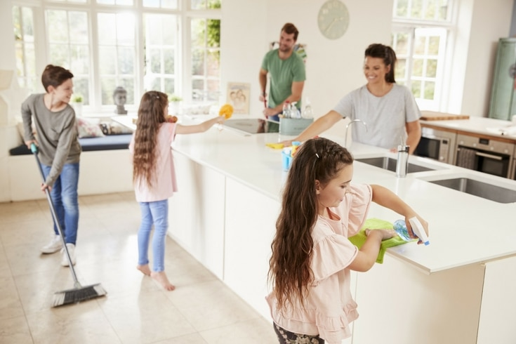 As much as we may know that raising our children is the more important priority, it doesn't take away the fact that our houses need cleaned.