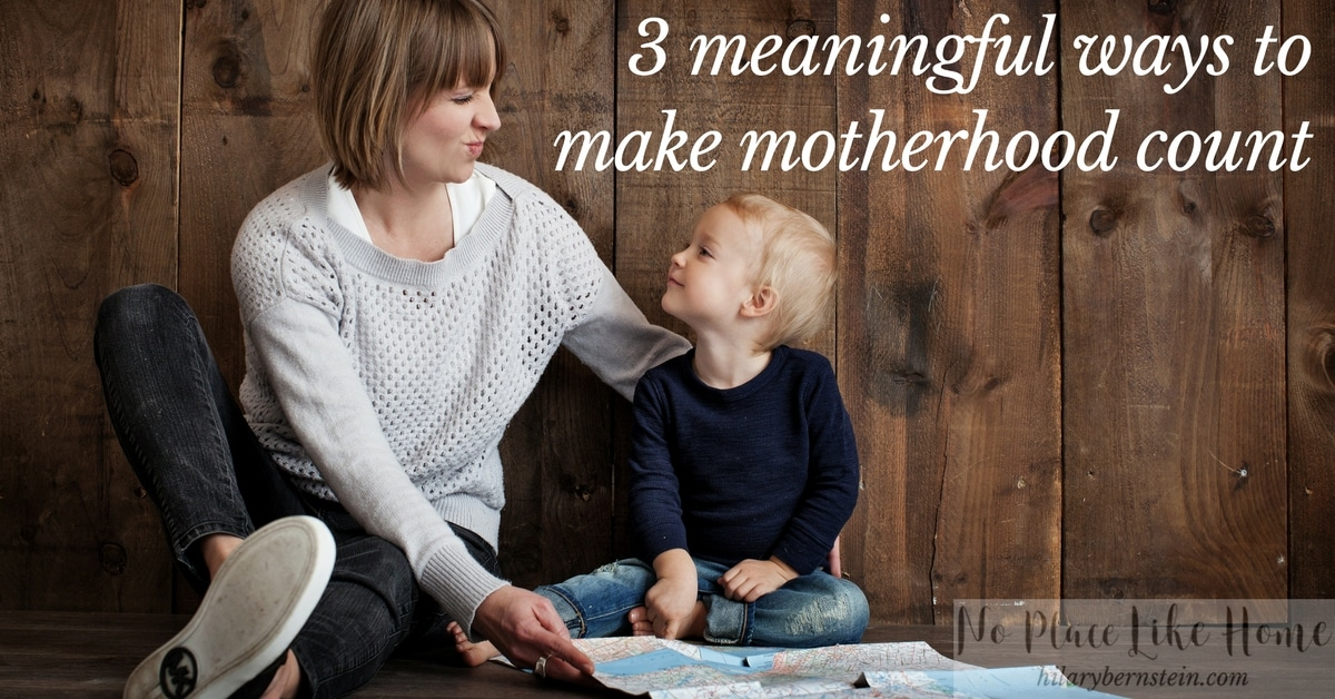 As you know where you want to go as a mom, pay attention to your children, and seek the Lord for His guidance and help, you'll begin to transform your outlook and approach to mothering.