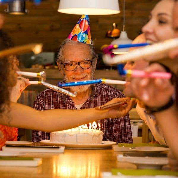 Family celebrates grandfather's birthday