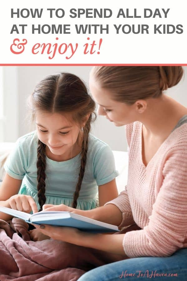 Mother and daughter read together