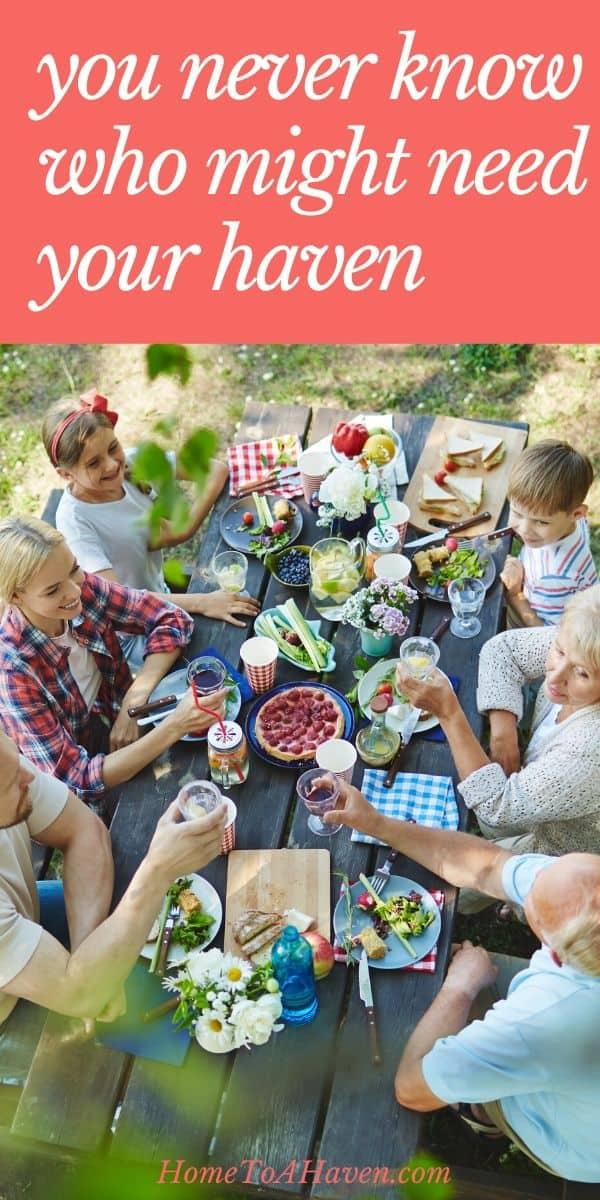 Group has a backyard picnic